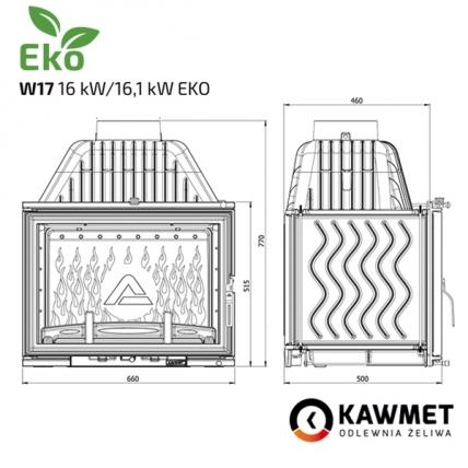 Каминная топка KAWMET W17 (16.1 kW) EKO. Фото 12