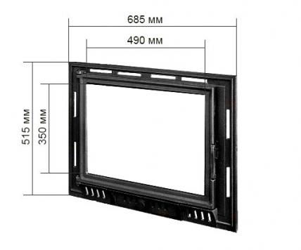 Двері для каміна KAWMET W6 515X685. Фото 2