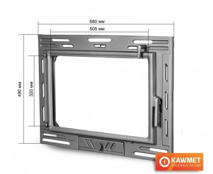 Двері для каміна KAWMET W9 490x680. Фото 2