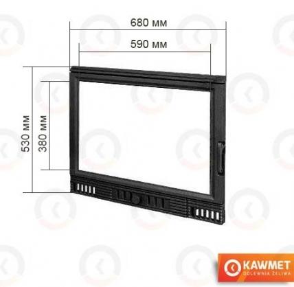 Двері для каміна KAWMET W1 530x680. Фото 2