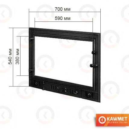 Двері для каміна KAWMET W3 540x700. Фото 2