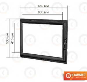 Дверцы для камина KAWMET W11 530x680. Фото 2