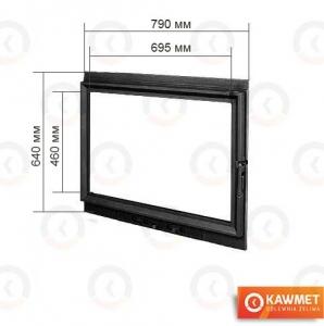 Двері для каміна KAWMET W8 640x790. Фото 2
