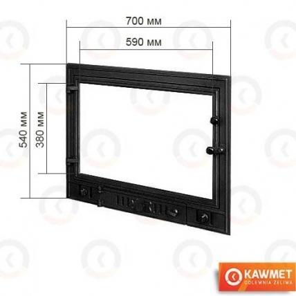 Двері для каміна KAWMET W4 540x700. Фото 2