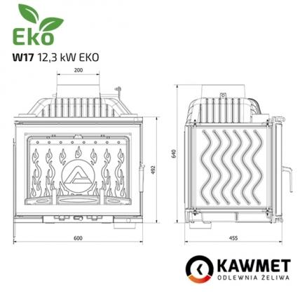 Каминная топка KAWMET W17 Dekor (12.3 kW) EKO. Фото 12