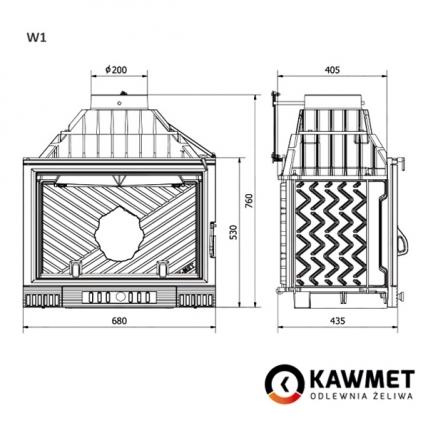 Каминная топка KAWMET W1 Herb  (18 kW). Фото 8
