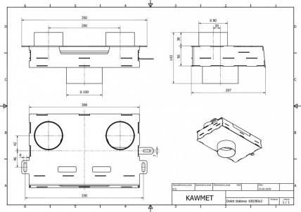 Долот (адаптер) сталевий для подачі повітря зовні KAWMET до моделі W17 16,1 kW/12,3 kW EKO. Фото 5