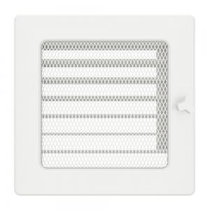 Вентиляционная решетка для камина SAVEN 17х17 белая с жалюзи