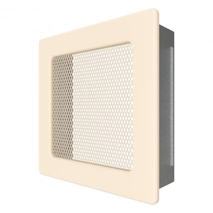 Вентиляционная решетка для камина SAVEN 17х17 кремовая. Фото 2
