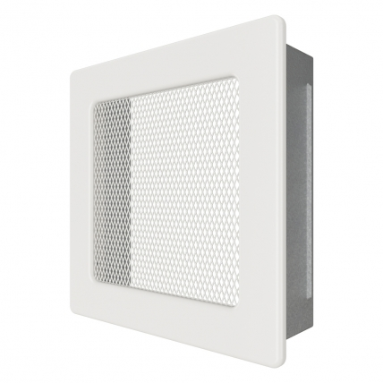 Вентиляционная решетка для камина SAVEN 17х17 белая. Фото 2