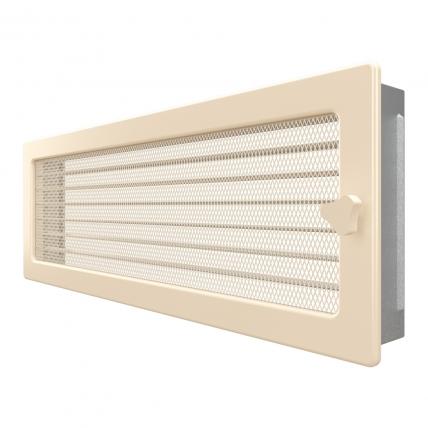 Вентиляционная решетка для камина SAVEN 17х49 кремовая с жалюзи. Фото 2