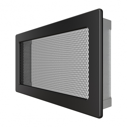 Вентиляционная решетка для камина SAVEN 17х30 черная. Фото 2
