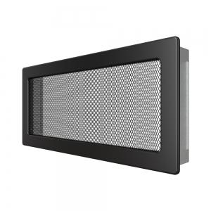 Вентиляционная решетка для камина SAVEN 17х37 черная. Фото 2