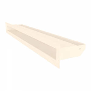Вентиляционная решетка для камина SAVEN Loft 60х600 кремовая. Фото 2