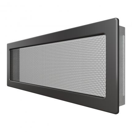 Вентиляційна решітка для каміна SAVEN 17х49 графітова. Фото 2