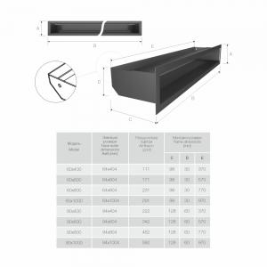 Вентиляційна решітка для каміна SAVEN Loft 60х1000 біла. Фото 5