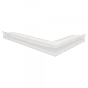 Вентиляційна решітка для каміна кутова ліва SAVEN Loft Angle 60х400х600 біла