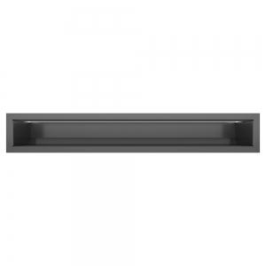 Вентиляційна решітка для каміна SAVEN Loft 90х600 графітова