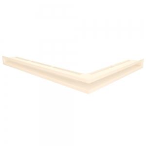 Вентиляционная решетка для камина угловая левая SAVEN Loft Angle 60х600х800 кремовая