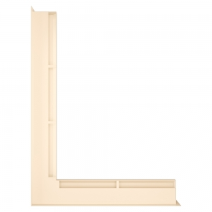 Вентиляционная решетка для камина угловая левая SAVEN Loft Angle 60х600х800 кремовая. Фото 2