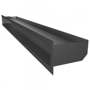Вентиляционная решетка для камина SAVEN Loft 90х1000 графитовая. Фото 2