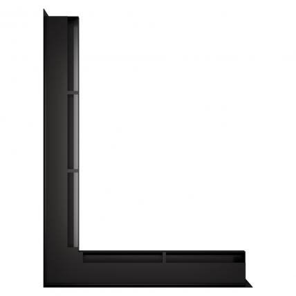 Вентиляційна решітка для каміна кутова ліва SAVEN Loft Angle 60х600х800 чорна. Фото 2