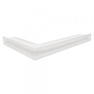 Вентиляційна решітка для каміна кутова права SAVEN Loft Angle 60х600х400 біла