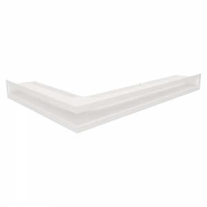 Вентиляционная решетка для камина угловая права SAVEN Loft Angle 60х600х400 белая