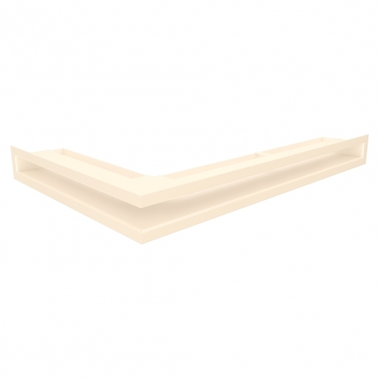 Вентиляционная решетка для камина угловая права SAVEN Loft Angle 60х600х400 кремовая
