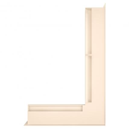 Вентиляционная решетка для камина угловая права SAVEN Loft Angle 60х600х400 кремовая. Фото 2