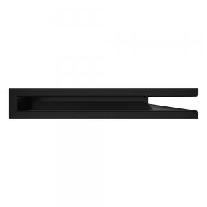 Вентиляционная решетка для камина угловая права SAVEN Loft Angle 60х600х400 черная. Фото 3