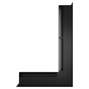 Вентиляционная решетка для камина угловая права SAVEN Loft Angle 60х600х400 черная. Фото 2