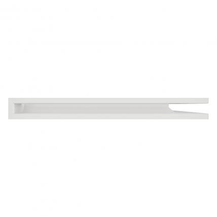Вентиляционная решетка для камина угловая права SAVEN Loft Angle 60х800х600 белая. Фото 3