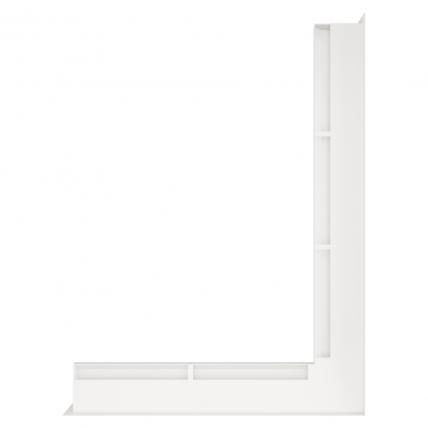 Вентиляционная решетка для камина угловая права SAVEN Loft Angle 60х800х600 белая. Фото 2