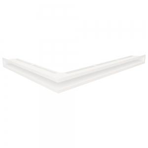 Вентиляционная решетка для камина угловая права SAVEN Loft Angle 60х800х600 белая