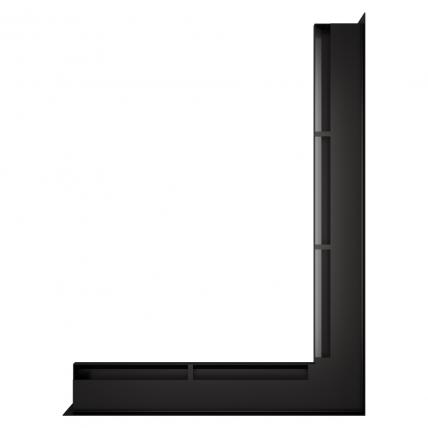 Вентиляционная решетка для камина угловая права SAVEN Loft Angle 60х800х600 черная. Фото 2