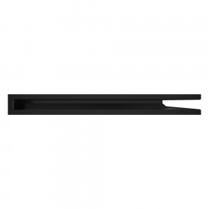 Вентиляционная решетка для камина угловая права SAVEN Loft Angle 60х800х600 черная. Фото 3