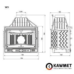 Каминная топка KAWMET W3 (16,7 kW). Фото 5