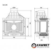Каминная топка KAWMET W3 трехсторонняя (16,7 kW). Фото 8