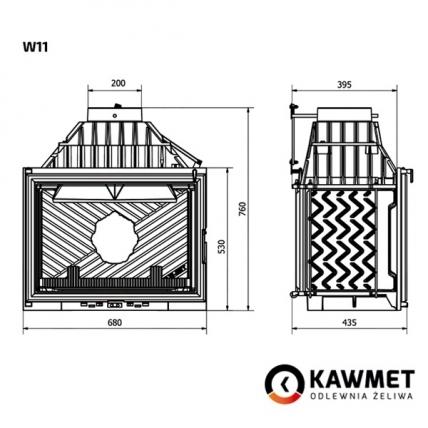 Камінна топка KAWMET W11 (18.1 kW). Фото 9