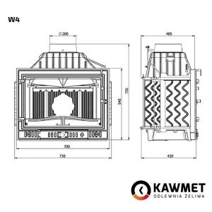 Каминная топка KAWMET W4 (14,5 kW). Фото 8