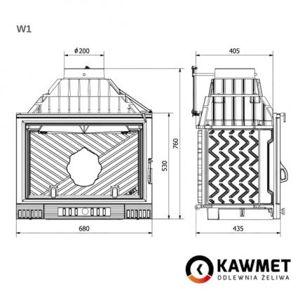 Каминная топка KAWMET W1 Feniks  (18 kW). Фото 8