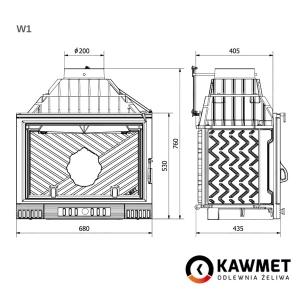 Каминная топка KAWMET W1 Feniks  (18 kW). Фото 11