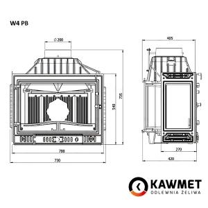 Каминная топка KAWMET W4 с левым боковым стеклом (14.5 kW). Фото 8