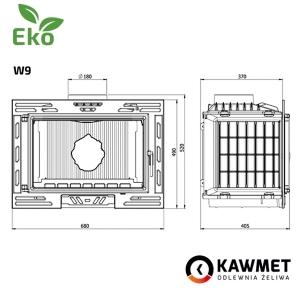 Каминная топка KAWMET W9 (9.8 kW) EKO. Фото 9