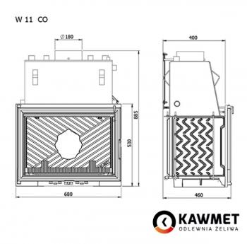 Каминная топка KAWMET W11 CO (18 kW). Фото 6