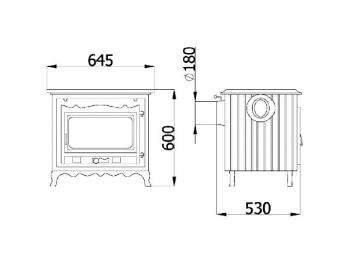 Чугунная печь KAWMET P2 (10 kW). Фото 3