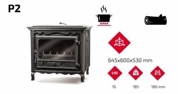 Чугунная печь KAWMET P2 (10 kW). Фото 4